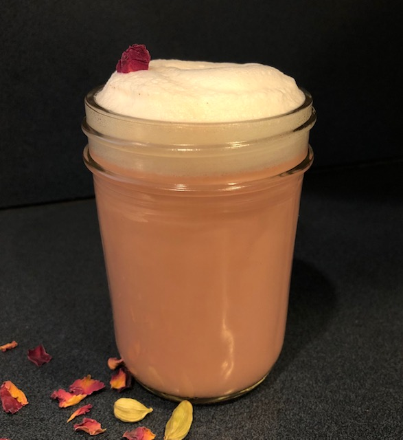 Rose Cardamom Latte
