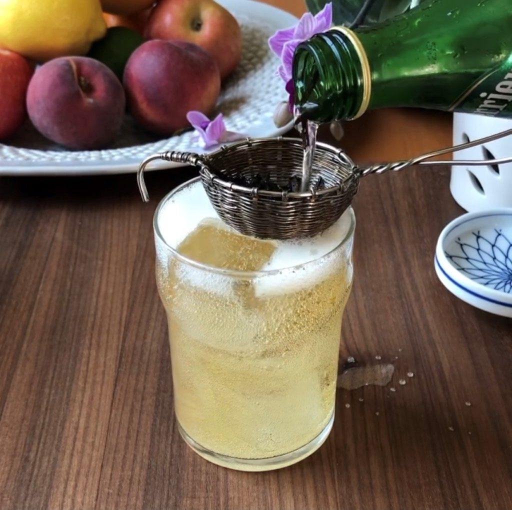 Sparkling Tea Cold Brewed in Seltzer
